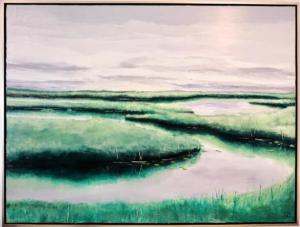 "75. ""Wetlands"", 48"" x 36"", acrylic and glaze"
