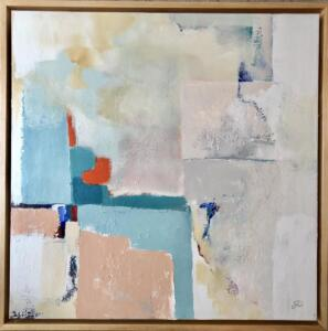 """96. Commission piece for a private residence, hand made frame (36"""" x 36"""")"""