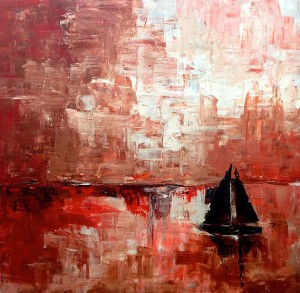 "13. ""Red Sail"" SOLD"