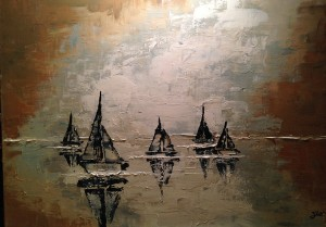 "9. ""Sail"" 30x40"", Framed, Not for Sale"