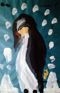 37. Penguin, Painted at age 4