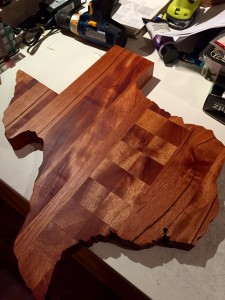 Sycamore and Mahogany cutting board