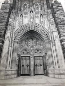 Final drawing of Duke Chapel to the series