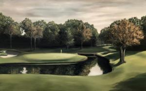 "88. ""The 8th Hole"", Oil on Canvas"